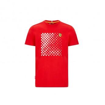 Ferrari pánské tričko checkered red F1 Team 2020