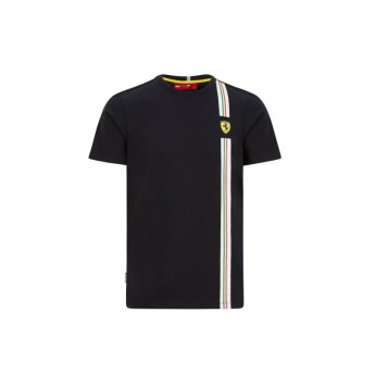 Ferrari pánské tričko Italian flag black F1 Team 2020