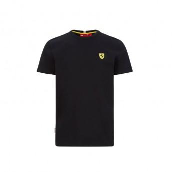 Ferrari pánské tričko small logo black F1 Team 2020