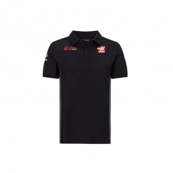 Haas F1 pánské polo tričko logo black F1 Team 2020