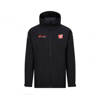 Haas F1 pánská bunda s kapucí rain black F1 Team 2020