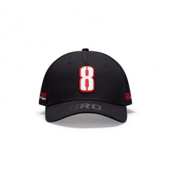 Haas F1 čepice baseballová kšiltovka Grosjean black F1 Team 2020