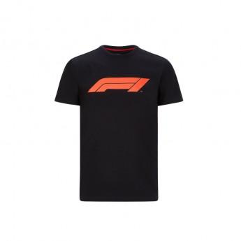 Formule 1 pánské tričko logo black 2020