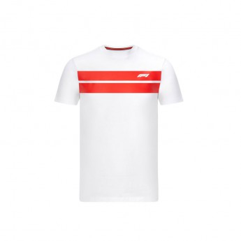 Formule 1 pánské tričko stripe white 2020