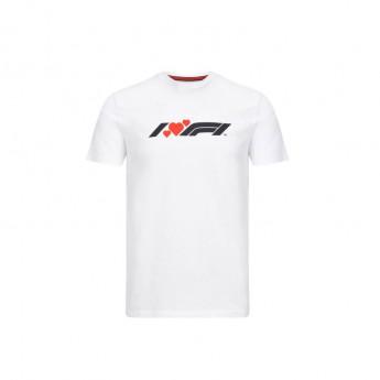 Formule 1 pánské tričko heart white 2020