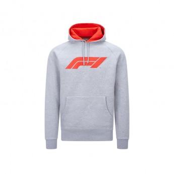 Formule 1 pánská mikina s kapucí logo grey 2020