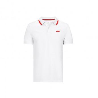 Formule 1 pánské polo tričko white Logo 2020