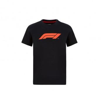 Formule 1 dětské tričko logo black 2020