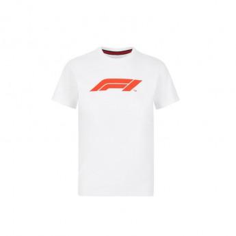 Formule 1 dětské tričko logo white 2020