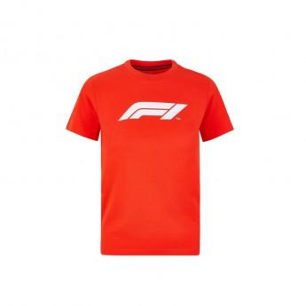 Formule 1 dětské tričko logo red 2020