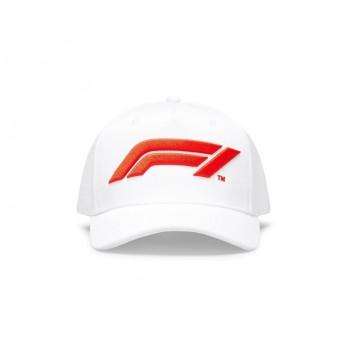 Formule 1 čepice baseballová kšiltovka logo white 2020