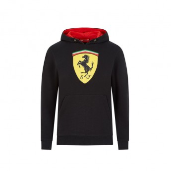 Ferrari dětská mikina s kapucí logo black F1 Team 2020