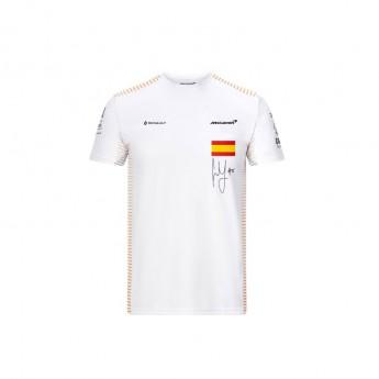 Mclaren Honda pánské tričko Carlos Sainz white F1 Team 2020