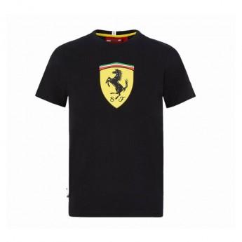 Ferrari dětské tričko logo shield black F1 Team 2020