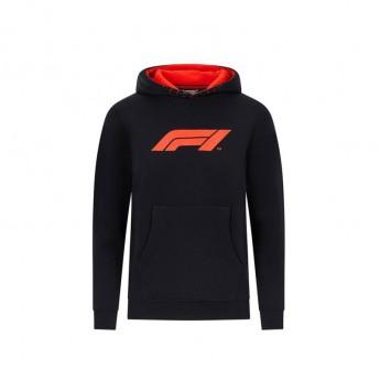 Formule 1 dětská mikina s kapucí logo black 2020