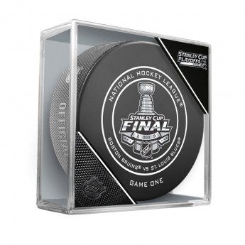 NHL produkty puk Boston Bruins vs. St. Louis Blues 2019 Stanley Cup Game 1 Official Game Puck