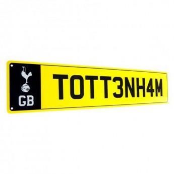 Tottenham Hotspur plechová cedule Number Plate Sign