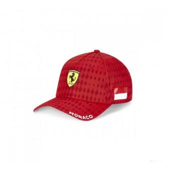 Ferrari čepice baseballová kšiltovka Monaco red F1 Team 2020
