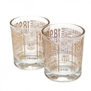 FC Barcelona sklenice 2pk Whiskey set