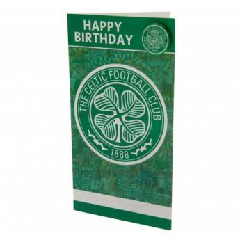FC Celtic narozeninové přání Birthday Card & Badge