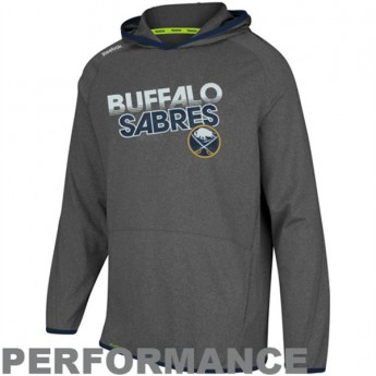 Buffalo Sabres pánská mikina s kapucí grey Travel and Training Performance