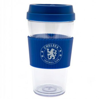 FC Chelsea cestovní hrnek Clear Grip Travel Mug