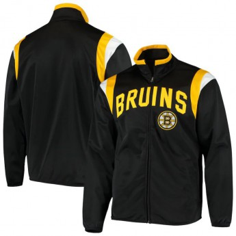 Boston Bruins pánská bunda Black Post Up Full-Zip Track