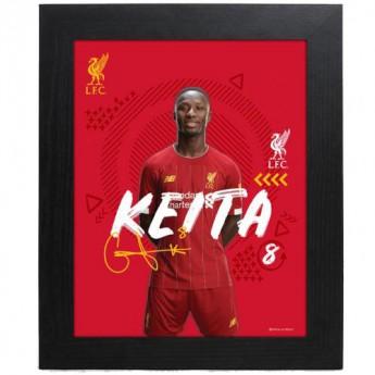 FC Liverpool obrázek v rámečku Keita 10 x 8