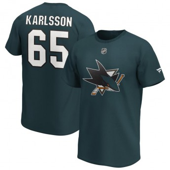 San Jose Sharks pánské tričko Erik Karlsson Iconic Name & Number Graphic