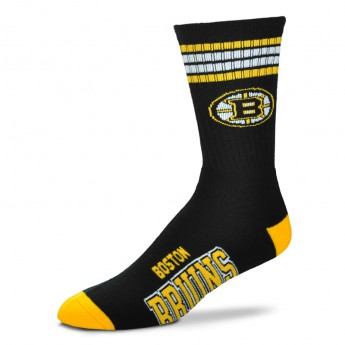 Boston Bruins ponožky 4 Stripes Crew
