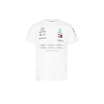 Mercedes AMG Petronas pánské tričko Lewis Champion White F1 Team 2020