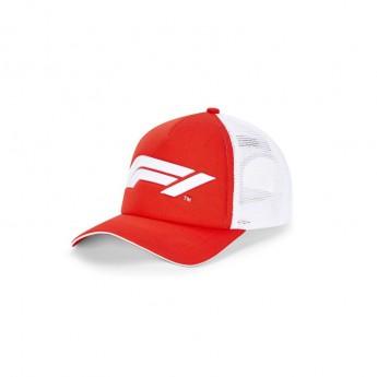 Formule 1 čepice baseballová kšiltovka Trucker red/white 2020