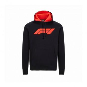 Formule 1 pánská mikina s kapucí logo black 2020
