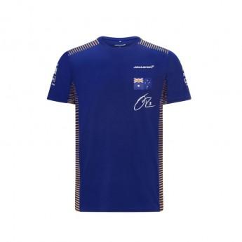 Mclaren Honda pánské tričko Ricciardo Blue F1 Team 2021