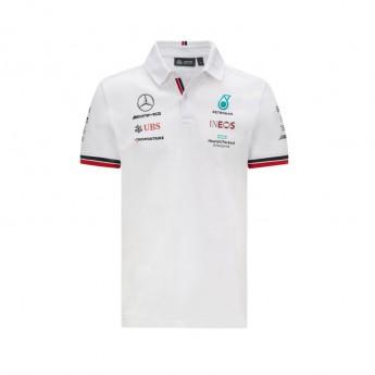 Mercedes AMG Petronas pánské polo tričko White F1 Team 2021