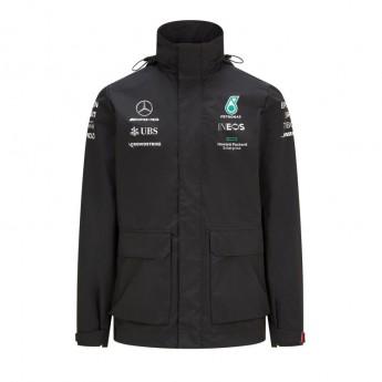 Mercedes AMG Petronas pánská bunda s kapucí Rain Black F1 Team 2021