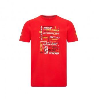 Ferrari pánské tričko Leclerc Driver PUMA Red F1 Team 2021