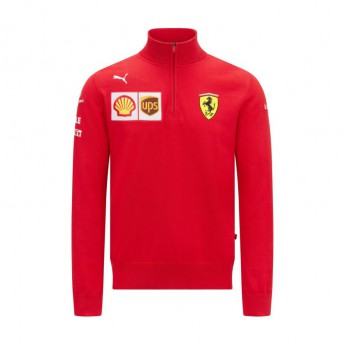 Ferrari pánská mikina Zip Sweatshirt PUMA Red F1 Team 2021