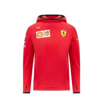 Ferrari dětská mikina s kapucí PUMA sweatshirt red F1 Team 2021