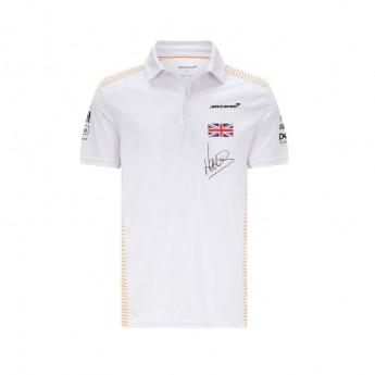 Mclaren Honda pánské polo tričko Norris White F1 Team 2021