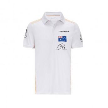 Mclaren Honda pánské polo tričko Ricciardo White F1 Team 2021