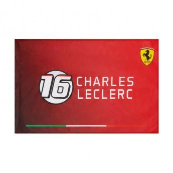 Ferrari vlajka Charles Leclerc 16 F1 Team 2021