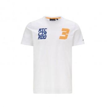 Mclaren Honda pánské tričko Ricciardo DR3 White F1 Team 2021