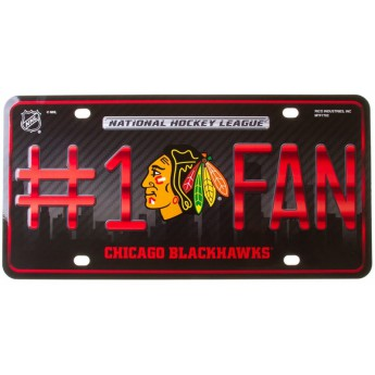 Chicago Blackhawks cedule na zeď #1 Fan Metal Autotag