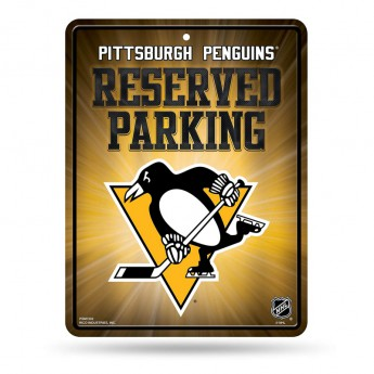 Pittsburgh Penguins cedule na zeď Auto Reserved Parking