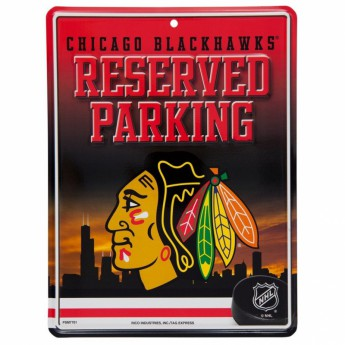 Chicago Blackhawks cedule na zeď Auto Reserved Parking