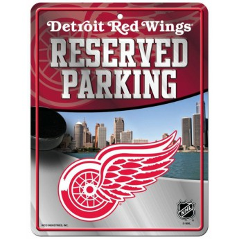 Detroit Red Wings cedule na zeď Auto Reserved Parking