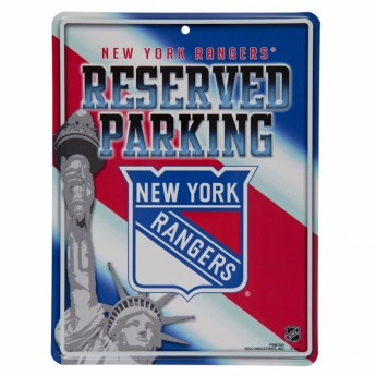 New York Rangers cedule na zeď Auto Reserved Parking