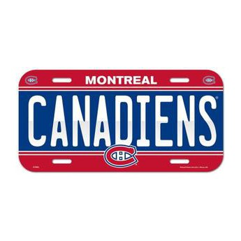 Montreal Canadiens cedule na zeď License Plate Banner
