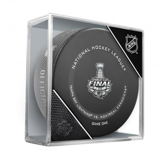 NHL produkty puk 2021 Stanley Cup Final Matchup Fanatics Authentic Unsigned Inglasco Game 1 Official Game Puck Tampa Bay Lightning vs. Montreal Canadiens
